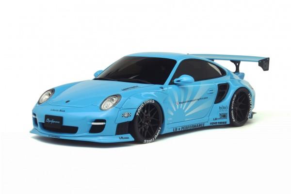 Porsche 997 LB Liberty Walk (Baby Blue) Edition GT Spirit KJ011 LE 600 pcs für Asien