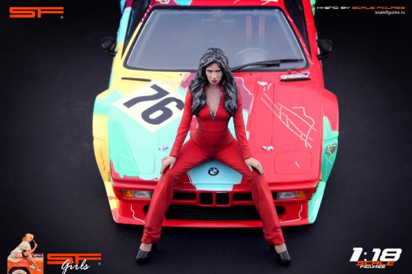 1/18 Grid Girl Red Dress von SF Scale Figures - Handarbeit -