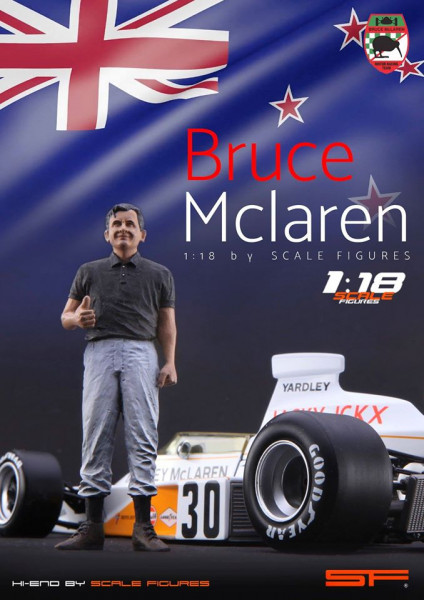 1/18 BRUCE McLAREN von SF Scale Figures - Handarbeit -