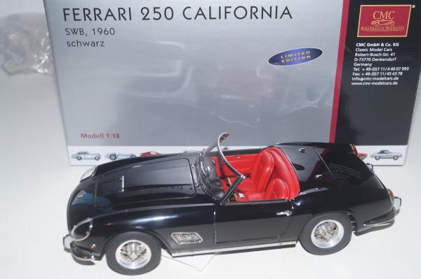 Ferrari 250 SWB California Spyder 1961 schwarz CMC M-094