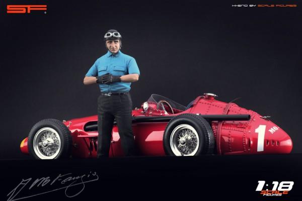 1/18 Rennfahrerfigur JUAN M. FANGIO von SF Scale Figures - Handarbeit - SF118143