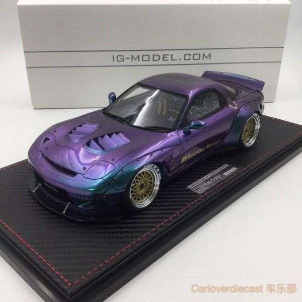 Mazda RX-7 Rocket Bunny Chameleon Color exclusive Asia edition Ignition Model IG1331