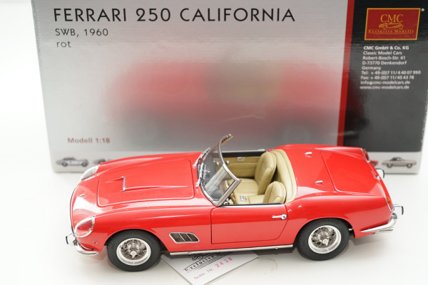 Ferrari 250 SWB Spyder California 1961 rot CMC M-091