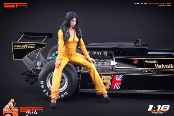 1/18 Grid Girl Yellow Dress von SF Scale Figures - Handarbeit -