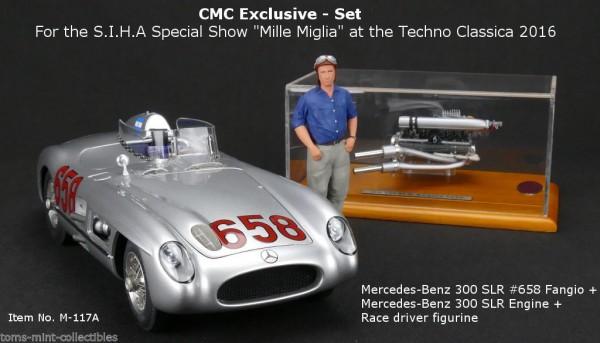 Mercedes-Benz 300 SLR Techno Classica 2016 S.I.H.A. Show Mille Miglia CMC M-117A