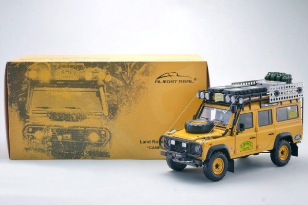 LAND ROVER DEFENDER 110 CAMEL TROPHY Edition Almost Real 810305 1/18