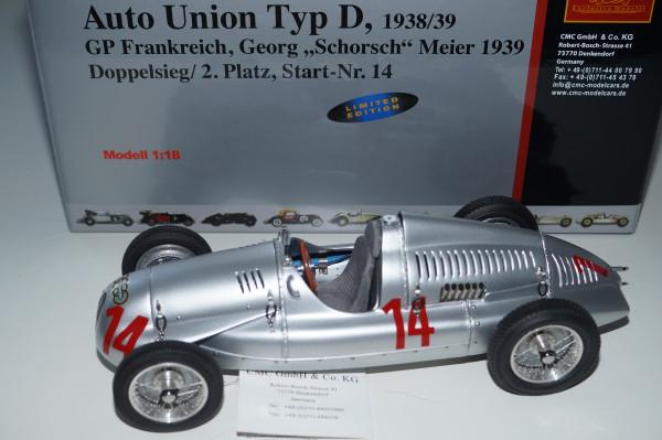 Auto Union Typ D #14, GP Frankreich 1939,G. Meier, CMC M-090