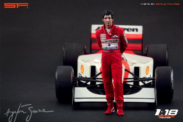1/18 Ayrton Senna von SF Scale Figures - Handarbeit -