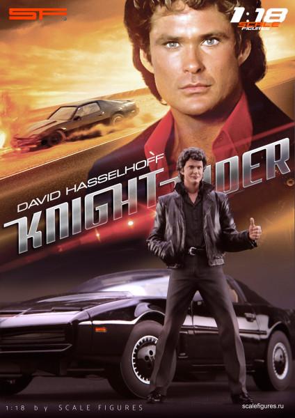 1/18 Knight Rider David Hasselhoff von SF Scale Figures - Handarbeit -