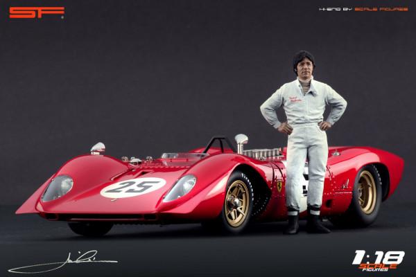 1/18 Rennfahrerfigur Mario Andretti von SF Scale Figures - Handarbeit - SF118095