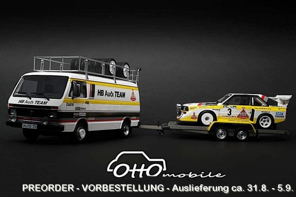 1/18 Rally Set Portugal Audi Team 1986 W. Roehrl / Ch. Geistdörfer OT276