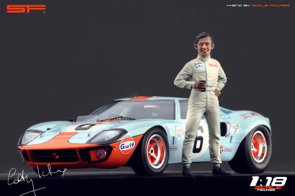 1/18 Rennfahrerfigur Jacky Ickx von SF Scale Figures - Handarbeit - SF118109