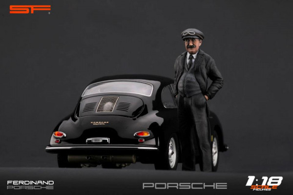 1/18 Konstrukteursfigur FERDINAND PORSCHE (Racing Version) von SF Scale Figures - Handarbeit