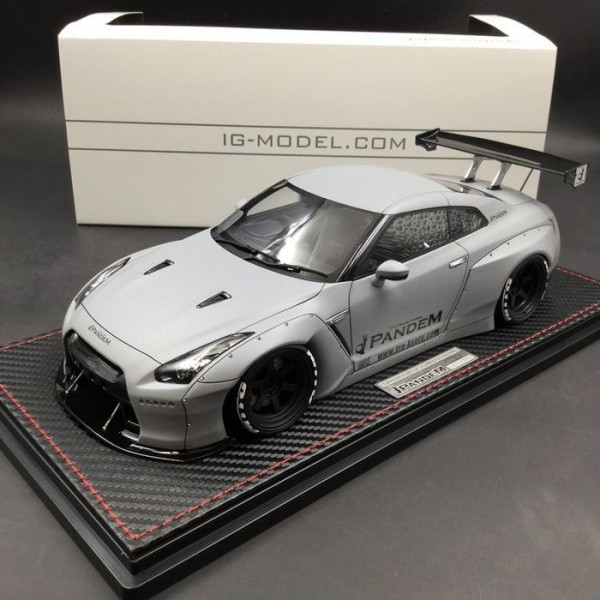 Pandem Nissan GTR 35 Air Force Grey Ignition Model Asia Edition IG1625