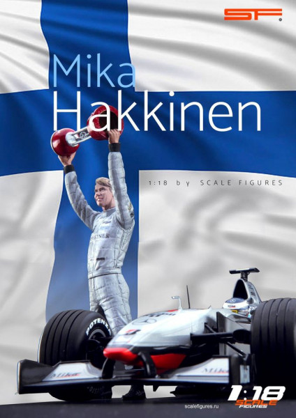 1/18 Mika Haekkinen von SF Scale Figures - Handarbeit -