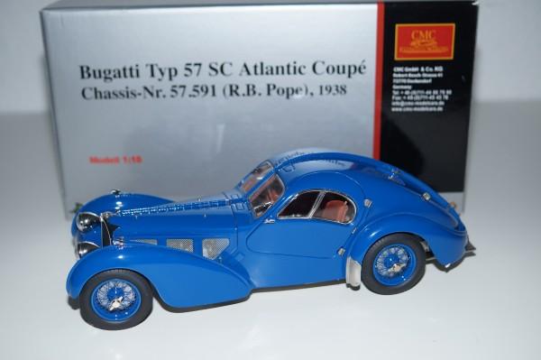Bugatti Typ 57 SC Atlantic blau R.B. Pope CMC M-083