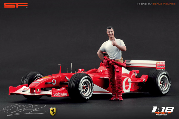 1/18 Michael Schumacher Ferrari von SF Scale Figures - Handarbeit -