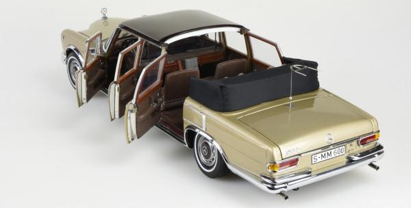 Mercedes-Benz 600 Pullman Landaulet beige/braun mit dauerhaft geöffnetem Verdeck CMC M-217 LE 800
