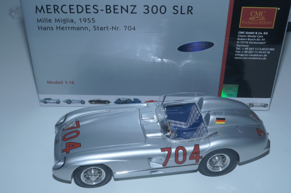Mercedes-Benz 300SLR #704 H. Herrmann Mille Miglia 1955 CMC M-119 LE 2.000
