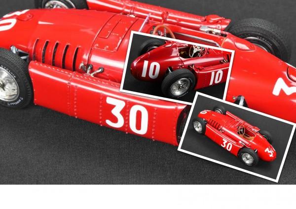 Castellotti-Bundle Lancia D50 #10 GP Pau + #30 GP Monaco CMC M-177/178 0003-0006