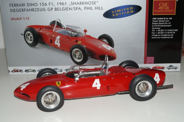 1/12 Ferrari Dino 156 F1 Sharknose #4 PHILL CMC C-007