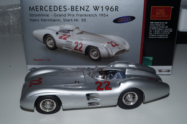 Mercedes-Benz W196R #22 H.Herrmann CMC M-128C LE 1.000 Stück