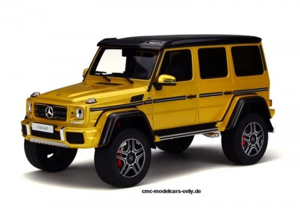 """MERCEDES-BENZ G500 4x42 """"SolarBeam Yellow"""" Limited Edition 1/18 GT Spirit Asia Edition KJ013"""