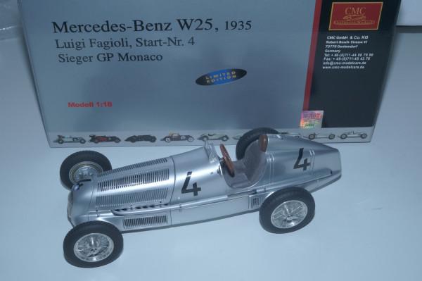 Mercedes-Benz W25 #4 Luigi Fagioli CMC M-104 LE RARITÄT BLACK #4