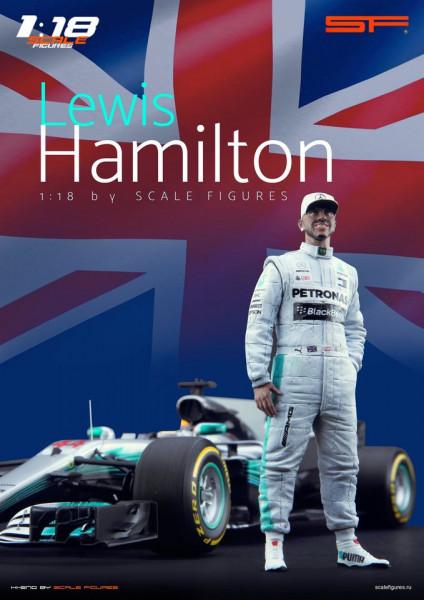 1/18 Lewis Hamilton von SF Scale Figures - Handarbeit -