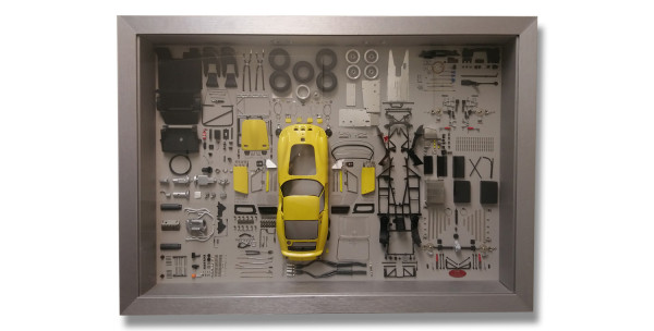 CMC Model Art Ferrari 250 GTO YELLOW parts display board CMC A-024, LE 200 Stück