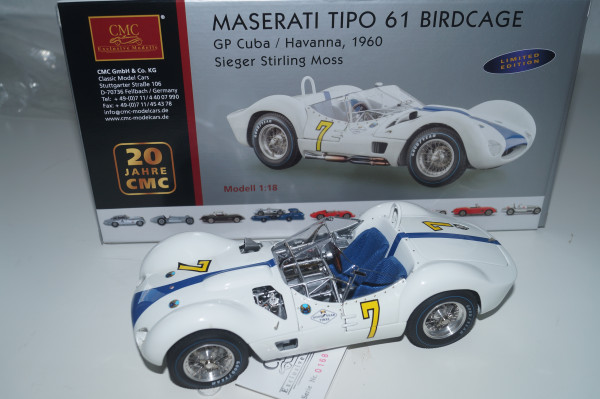 Maserati Tipo 61 Birdcage #7 GP Cuba / Havana, L.E. 1500 Stück CMC M-125