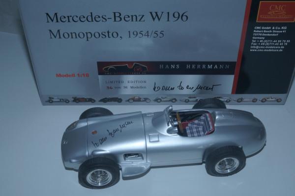 Mercedes-Benz W196, Hans Herrmann -Signatur Edition- limitiert auf 96 Stück #96/96, Basismodell CMC