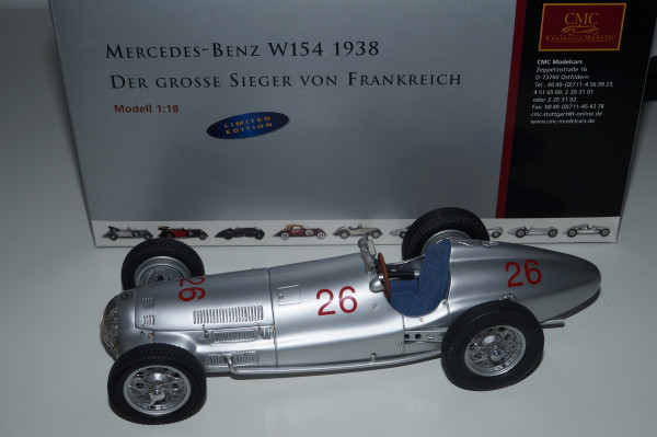 Mercedes-Benz W154 #26 M.v. Brauchitsch Sieger von Frankreich 1939 CMC M-039 LE 1.000 Stück