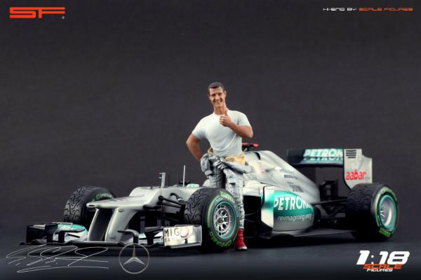 1/18 Michael Schumacher Mercedes-Benz von SF Scale Figures - Handarbeit -