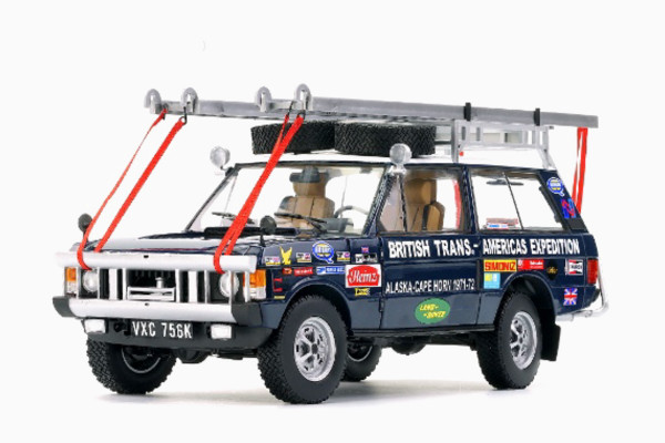 """1/18 RANGE ROVER """"The British Trans-Americas Expedition"""" (765K) von ALMOST REAL #810109 LE 300"""