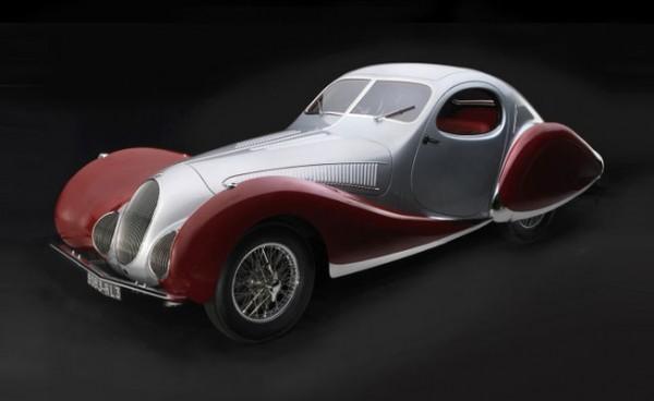 "Talbot-Lago Coupé Typ 150 C-SS Figoni & Falaschi ""Teardrop"" silber/rot CMC M-165"