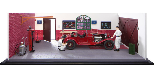 CMC Classic Garage inklusive Alfa Romeo 6C 1750 GS CMC A-015 LE 200 Stück