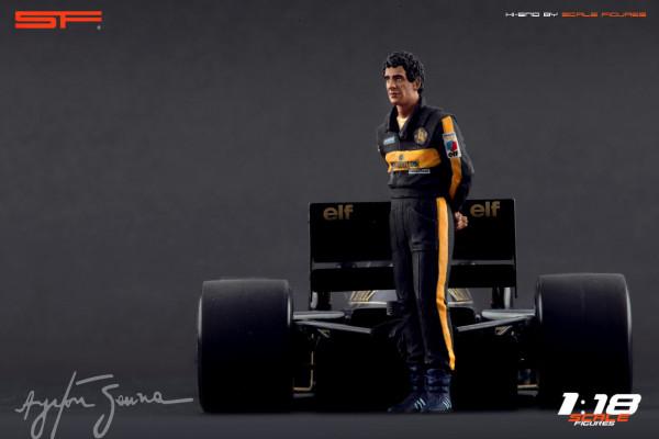 1/18 Ayrton Senna Lotus von SF Scale Figures - Handarbeit -