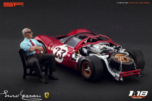 1/18 Enzo Ferrari sitting von SF Scale Figures - Handarbeit -