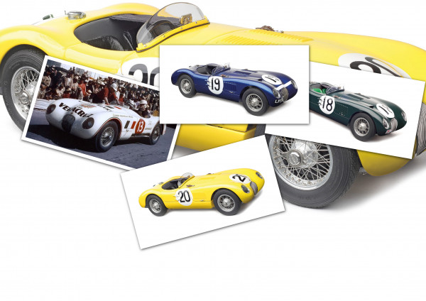 4 x Jaguar C-Type Bundle CMC M-192+M-194+M-195+M-196