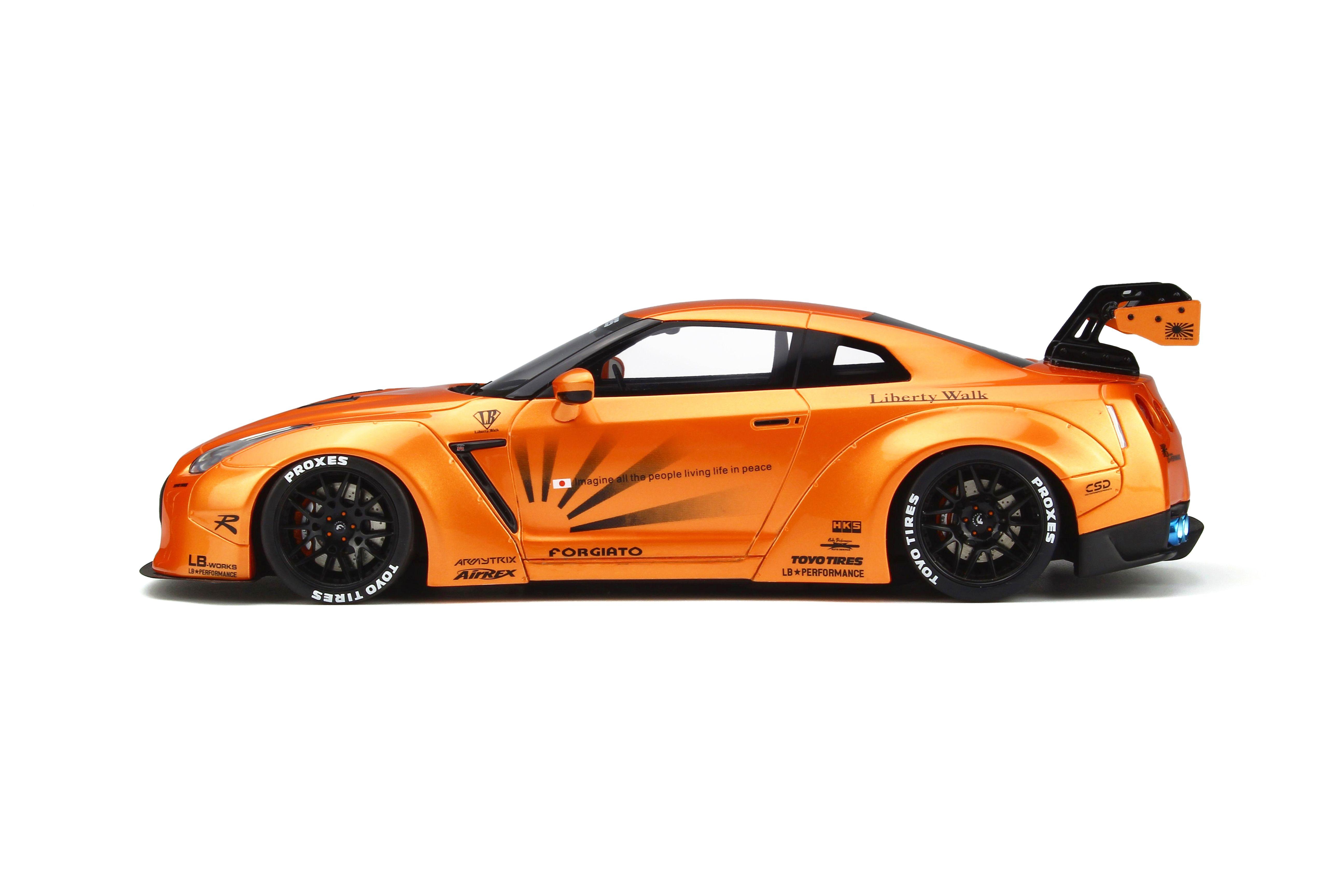 Nissan GTR R35 Liberty Works orange metallic GT Spirit GT742 LE 999