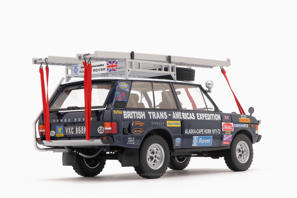 "1/18 RANGE ROVER ""The British Trans-Americas Expedition"" (868K) von ALMOST REAL #810108 LE 800"