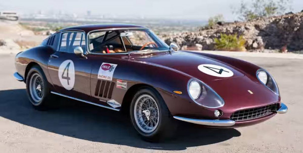 Ferrari 275 GTB/C #4 Pedro Rodriguez Chassis 09063 von 1966 rubinrot CMC M-213 LE