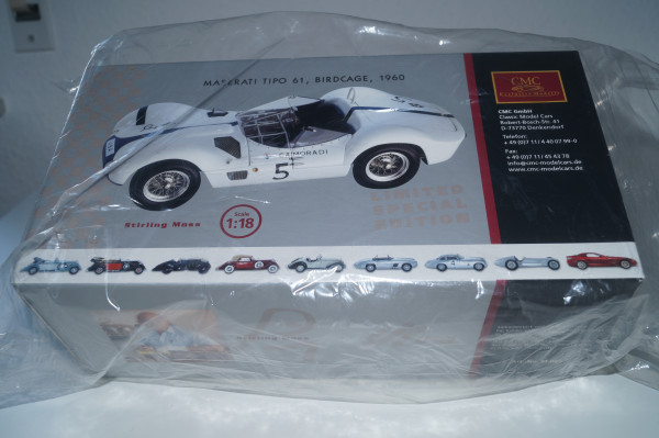 Maserati Birdcage #5 signiert von Stirling Moss CMC M-061 1/18