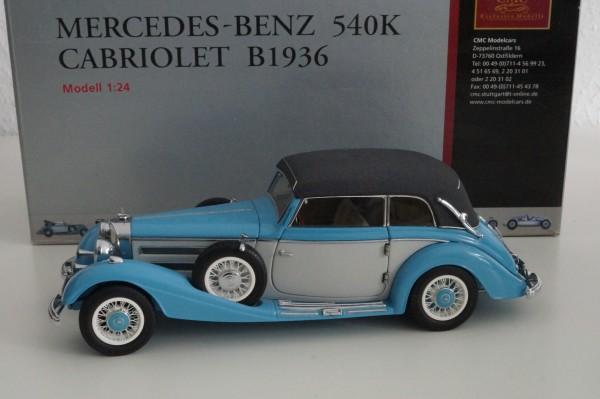 Mercedes-Benz 540K Cabriolet B hellblau/elfenbein CMC M-003B 1/24 #01632