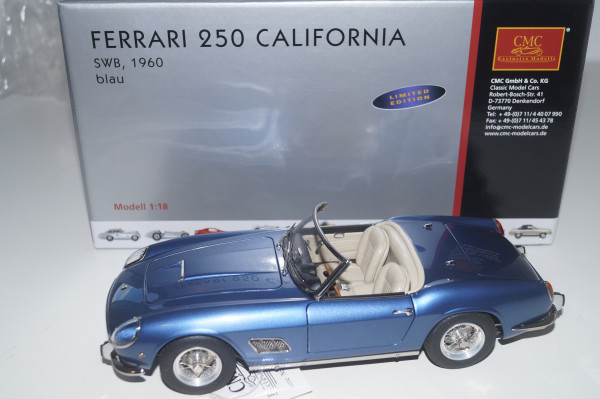 Ferrari 250 SWB California Spyder 1961 blau CMC M-092
