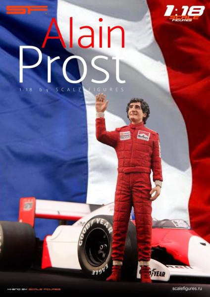 1/18 Alain Prost von SF Scale Figures - Handarbeit -