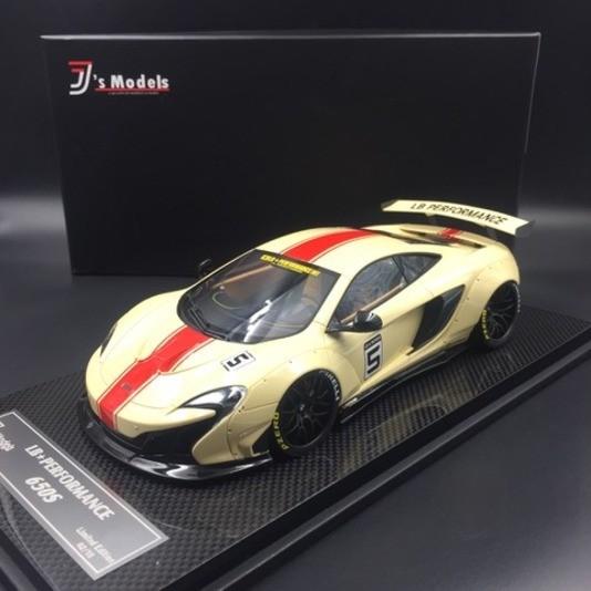 McLaren 650S LB Works #5 beige mit rotem Streifen J's Models J001BC LE 15