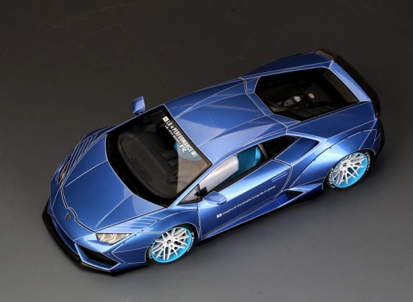 Lamborghini Huracan LB Works Ice Blue Color ALL OPEN ACM008-04