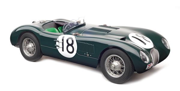 Jaguar C-Type #18 24h Le Mans Sieger 1953 Rolt/Hamilton CMC M-195 LE 1.500